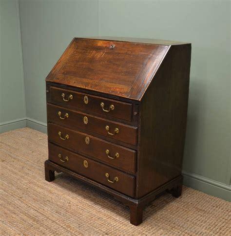 bureau vintage early georgian oak country antique bureau 258618