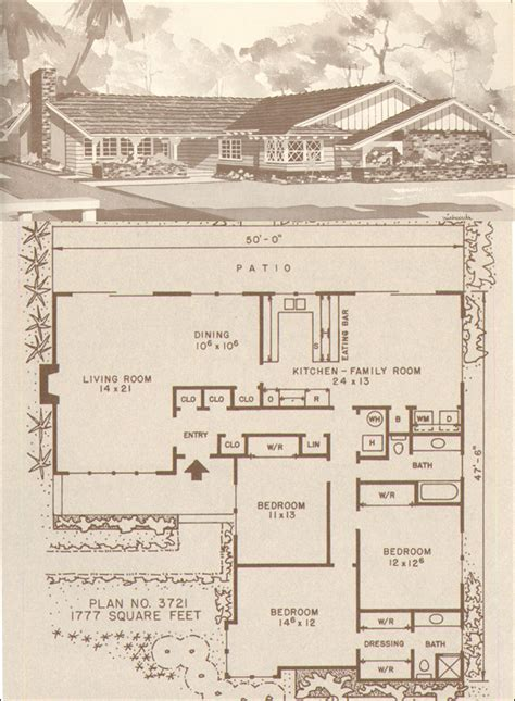Design No Plan No 3721 Hiawatha T Estes C 1960 1960 S Home Plans