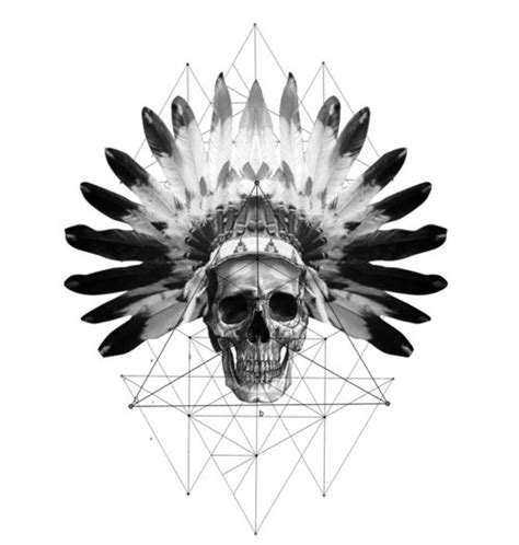 native american skull tattoo american skull