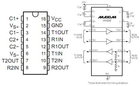 max232 ic pin diagram max232 pin diagram wiring diagram name