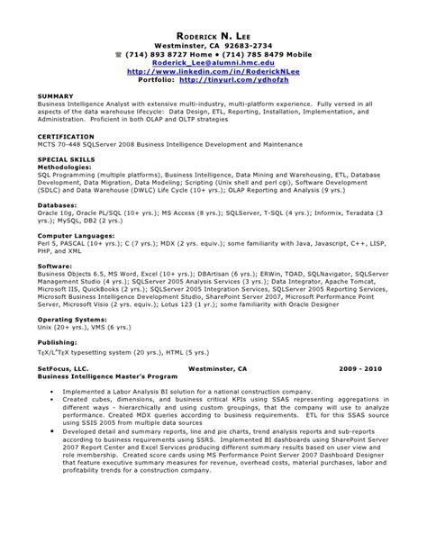 sql dba resume sle 28 images bachelor of arts degree