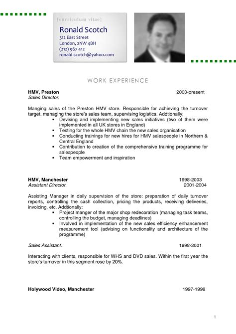Professional Curriculum Vitae Template by 8 Curriculum Vitae Exles New Tech Timeline