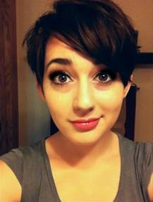 pixie hair cut with out bang pixie cut with long bangs make me over pinterest