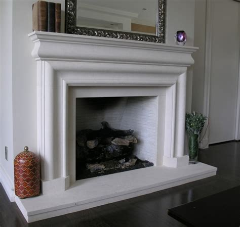 Classical Fireplace by Classical Bolection With Connecting Curve Frieze