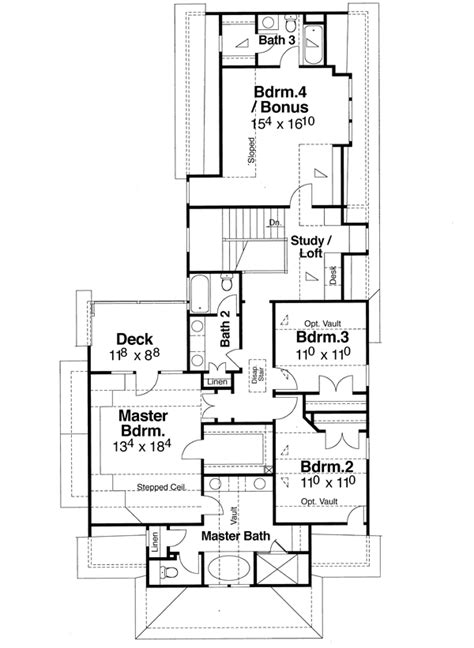 floor plans designer chadwick 5830 4 bedrooms and 3 baths the house designers