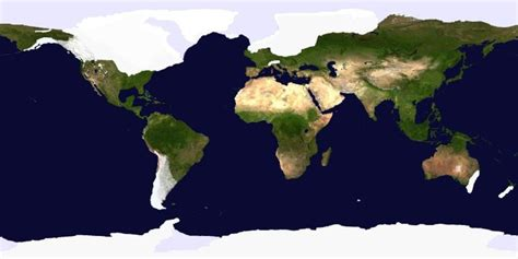 ice age world maps humanities