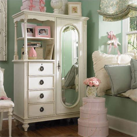 girls armoire emma s treasures mirrored door chest armoire traditional