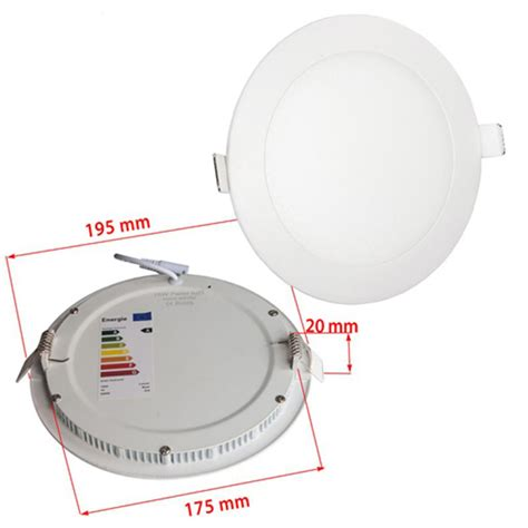 15w recessed ultra slim ceiling led light l in cool white