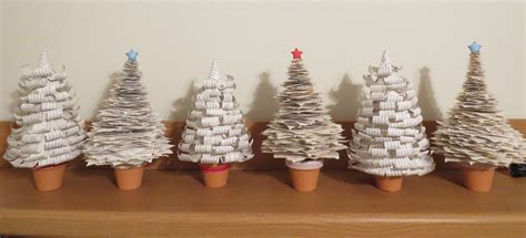 book page christmas trees recycling tired books