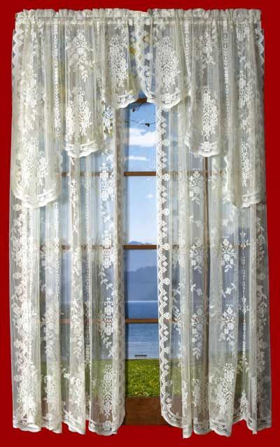 lace swag valance curtains pin by olde worlde lace on lace curtains ready made