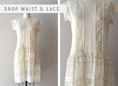Hq 3712 Pattern Dress White detail inspiration drop waist lace or why i 1920s