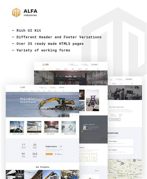 Industrial Supply Website Template Industrial Catalog Template