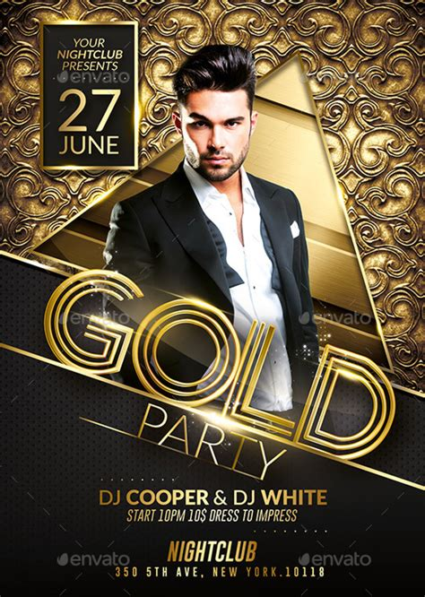 templates for flyers photoshop prestige pack psd flyer templates gold party by