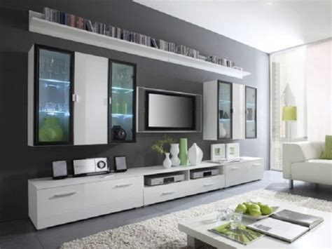 Wobble Lcd Clock Adds To Room by Modern Grey Nuance Of The Tv Stand White Wall Can Be Decor