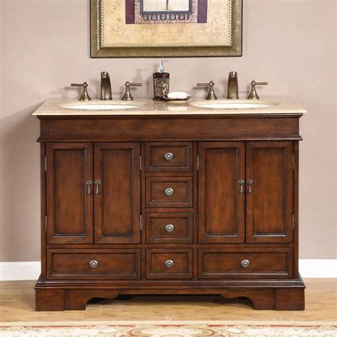 Silkroad Exclusive Mesa 48 Inch Double Sink Bathroom Vanity Bathroom Vanity 48 Inch