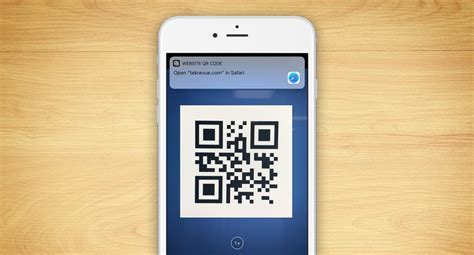 iphone qr scanner ios 11 scan qr codes in the iphone app tekrevue
