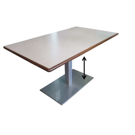 Table rectangulaire à hauteur variable INOXIS