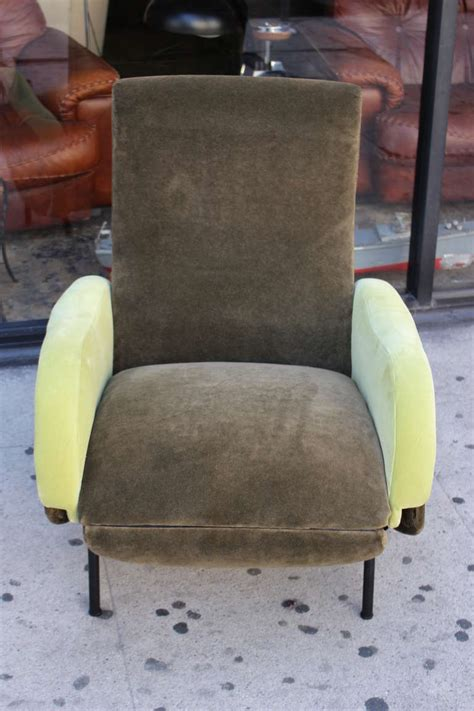 Cost To Reupholster Recliner by Italian Reclining Armchair Reupholstered In Mohair And