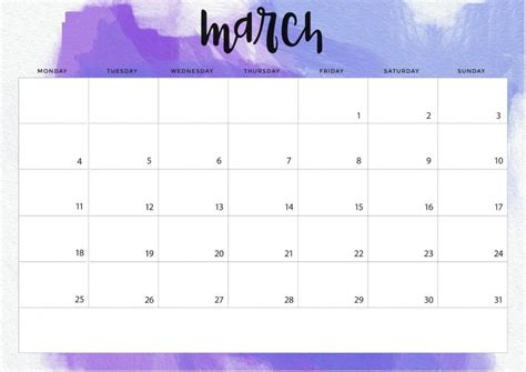 march 2019 calendar word march 2019 calendar in pdf word excel printable template