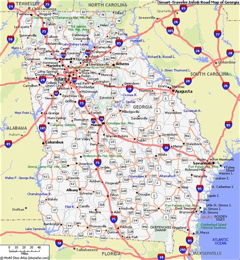 map of georgia cities cities in georgia usa georgia map with cities map of georgia click now for