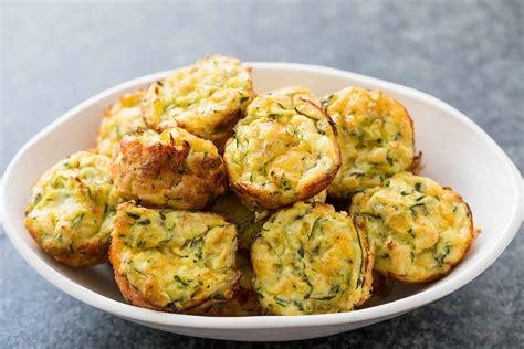 cheesy zucchini bites recipe simplyrecipes com