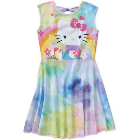 machine wash cold with like colors hello tie dye bow back dress 00732409753248