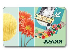 Joann Fabric Gift Card - jo ann gift card christmas birthday list pinterest