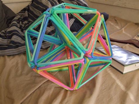 How To Make A Cool Thing Out Of Paper - how to make a buckyball out of bendy straws things i hack