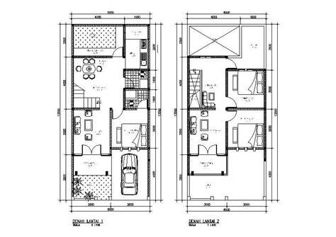 gambar denah rumah 2 lantai info menarik