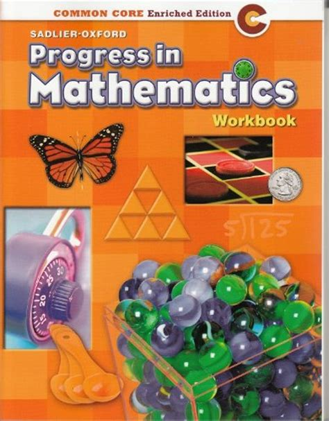 libro student workbook for mathematics progress in mathematics 169 2014 common core enriched edition student workbook grade 4