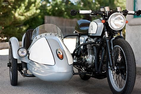 motorcycle sidecar honda cb550 with sidecar by analog motorcycles
