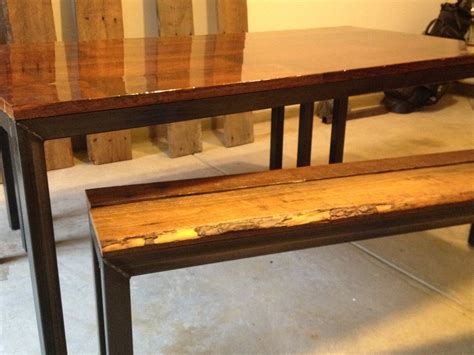 large kitchen tables with benches steel framed kitchen table and benches reclaimed