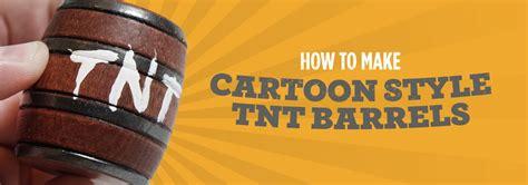 diy    miniature tnt barrels   cartoons