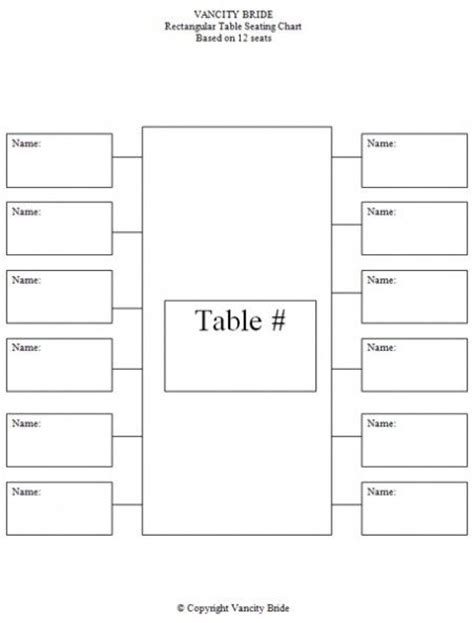 free individual table seating charts baby things