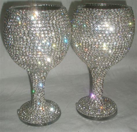Handmade Wine Glass - custom designed handmade pair of wine glass wedding