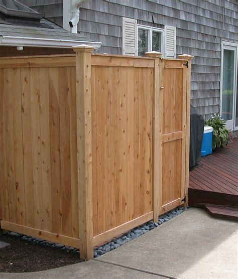 outdoor showers kits cedar enclosure il oh pa va tx
