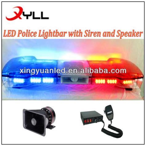 led light bar avec la sir 232 ne parleur bleu d urgence stroboscopique voiture conduit feux