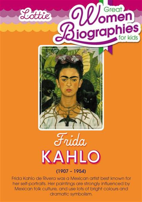 frida kahlo quick biography frida kahlo biography for kids lottie dolls