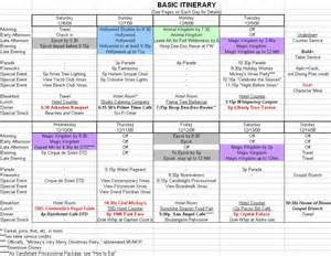 disney itinerary template best photos of disney itinerary spreadsheet disney world