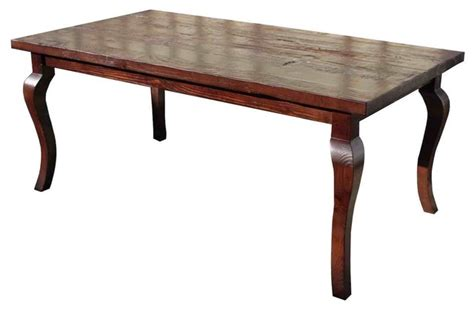Reclaimed Wood Dining Table Los Angeles Cabriole Leg Reclaimed Wood Dining Table Eclectic Dining Tables Los Angeles By Mortise