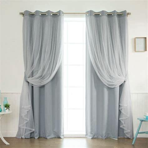 Best 10 Tulle Curtains Ideas On Pinterest Bed Valance | found it at wayfair lace tulle overlay light filtering