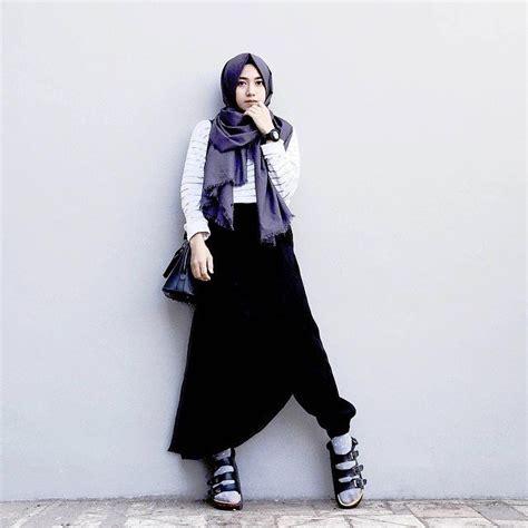 Setelan Baju Muslim Wanita Ar678 17 contoh model busana muslim setelan rok panjang modis