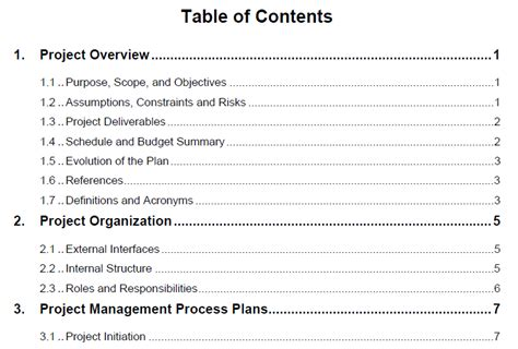 project management project plan template project management plan template best business template