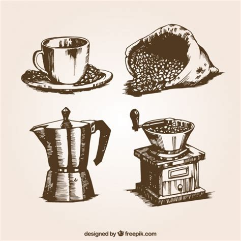 Retro coffee illustrations Vector   Free Download