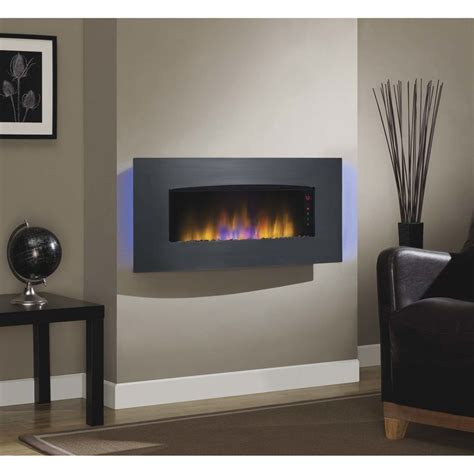 fireplace in wall best 25 wall mount electric fireplace ideas on