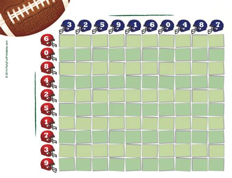 Office Football Pool Strategy Number Names Worksheets 187 Free Printable 100 Square Grid