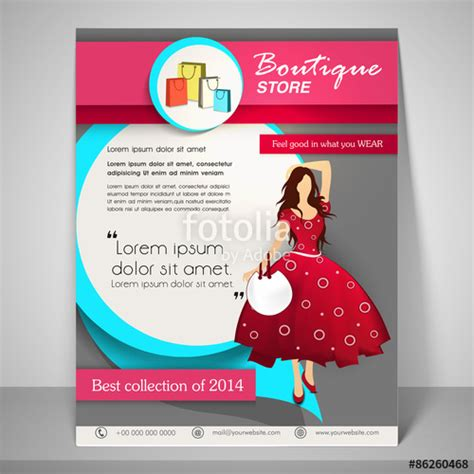 boutique flyer template free quot stylish brochure flyer and template for boutique quot stock image and royalty free vector files