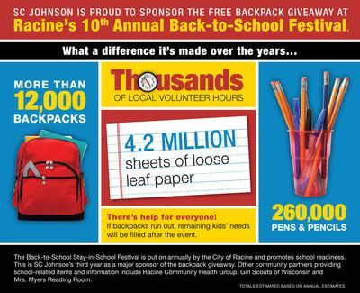 back to the conference special books binders books and backpacks sc johnson and city of