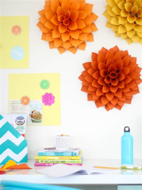 How To Make Paper Decorations For Your Room - easy diy craft paper dahlias hgtv