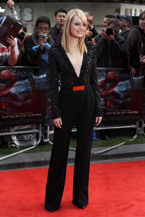 emma stone jumpsuit june 18 2012 emma stone the cut